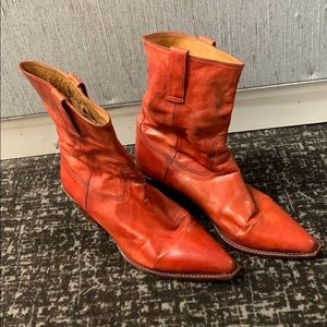 Cole Haan cowboy style red boots